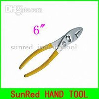 Wholesale SunRed BESTIR taiwan brand HIGH QUALITY yellow quot Slip Joint Plier Manufacturers high carbon Steel hand tool NO