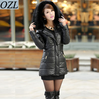 coats and jackets - 2014 winter warm coat jacket for women new women in Europe and America long hair down with Hooded cotton jacket E00139