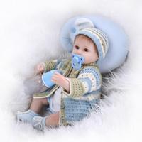 big house clothing - 42cm Silicone Reborn Baby Dolls Princess Play House Brinquedos Toys Manual Knitting Clothing Babies Christmas Gifts Dolls