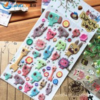 Wholesale Poster Home Decor South Korea Sent Straight Three Dimensional Sponge Stickers Funny Diary Decorative Danchu Doll
