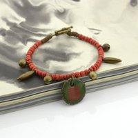 ceramics and pottery - One Original Pottery Ceramic Bracelet retro national wind fresh literary young men and women couple models