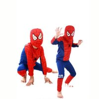 Wholesale Cool Style Child - HOT Sale 2 Styles Funny Party Spiderman Costume For Cool Children Cosplay Costume Carnival Costume Superhero Costume