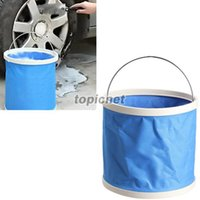 Wholesale ASLT Folding Bucket Barrel L for Outdoor Camping Hiking Fishing Car Wash Blue order lt no track