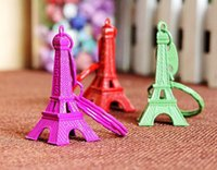Promotion antique color photo - NEW Hot fashion Cartoon Game movie Key Candy color Eiffel Tower alloy keychain wedding favors keychain cc61