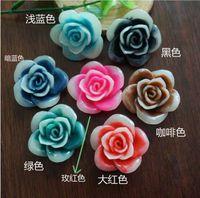Wholesale 100pcs cm resin rose hair accessories flower diy arts mobile phones beauty ornament
