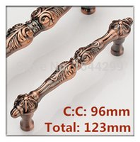 antique copper cabinet pulls - 2pcs Hole Distance mm quot Red Antique Copper Color Bronze Kitchen Luxurious Handles Cabinets Pulls