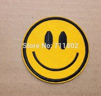 Wholesale Smiley Face iron on patches expression psg embroidered pantch DIY Applique Badge
