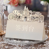 Wholesale Creative Wedding Hollow Out Heart Window Seats Card Table Card Cafe Personality Decca Seat FLOWER CENTERPIECE Wedding Table Heart Fabric Par