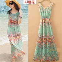 Cheap Casual Dresses bohemian Long Beach Dress Best Bohemian Dresses Summer New boho dress party print women dress
