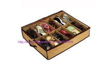 Wholesale 1set Shoe Storage Box Foldable Organizer Holder Fabric Bag Intake shoes Under Bed Closet Canvas can put pairs shoes