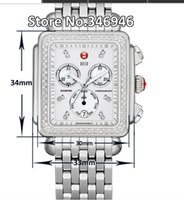 michele watch - Hottest Michele Deco Diamond Chronograph day date fully function quartz watch fashion women s Dress Watches