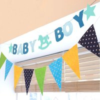 baby buntings - Hanging Letter Baby Shower Boy Girl Cockhorse Buntings Decoration Party Banner Garland Kids Bedroom Events Supplies