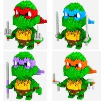 Wholesale 128pcs LOZ Children s intelligence toys D puzzle toy building blocks small particles of diamond Ninja Turtles Educational Cheap