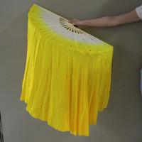 belly dance custom - Belly Dance real silk veil Fan Dancing cm long Veil Fan Dance costume Accessory custom color t146