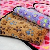 Wholesale Pet mats thick dog blanket throws for cats dogs warm blanket high quality for kennels bed
