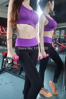 Wholesale Sports Wear Women Sport Trousers Yoga Pants Fitness Gym Black Pants Running Tights slim Leggings