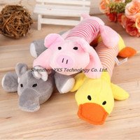 Wholesale New Dog Toys Pet Puppy Chew Squeaker Squeaky Plush Sound Duck Pig Elephant Toys Designs Toys products