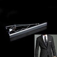 Wholesale FG1509 Men s Metal Silver Tone Simple Necktie Tie Bar Clasp Clip for Men Retail