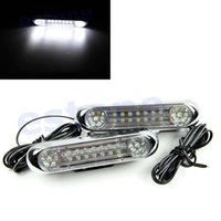 Cheap W110Hot Sale! 2 x 28 LED Car Truck Grille Universal Driving Daytime Fog White Light Lamp Free Shipping