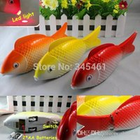 Wholesale 2pc Led Electronic toy fish Durable and reliable for long term use Battery Operated Toy Fish Flashing Sounding Led Glow Fish A2