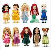 Cheap Hot new style Rapunzel Princess Animators Collection 16 Inch Doll Original Box Figure Tangled Gift for baby girl Free shipping