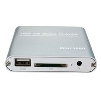 Wholesale High Quality Full HD P Mini HDD Multi Media Player POUR HDTV MKV H RMVB HDMI With HOST USB SD Card Reader