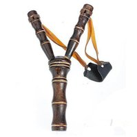 bamboo gun - Bamboo Style Wood Wooden Sling Shot Toys Slingshot Bow Catapult Hunting