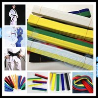Wholesale 2 M martial arts belt Karate Taekwondo Judo Jiu jitsu tae kwon do belt Karate Taekwondo tape