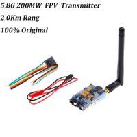Vidéo gamme émetteur Prix-5.8G 200MW Vidéo AV Transmetteur Audio Video Sender FPV 2,0 km Plage TS351 afin $ piste 18Personne