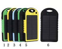 Wholesale Portabl Universal mA Solar Charger Waterproof Solar Panel Battery Chargers for Smart Phone PAD Tablets Camera Mobile Power Bank Dual USB