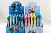Wholesale students fashion frozen ball point pens childerns ballpoint pens frozne colors students ballpoint pens plastic ball pens