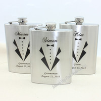 best hip flasks - Personalized gift stainless steel hip flask oz for Groomsman and Best man