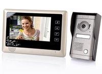 Wholesale 7 quot TFT LCD Home Security Monitor Video Door Phone Intercom Doorbell System Kit IR Camera Doorbell Intercom System