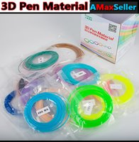Wholesale Colorful Colors Each Box bags ABS Flash ordinary ABS D Pen Material Meters each small bag mm ABS D Printing Pen Filament