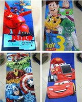 Wholesale larger Big hero cartoon Children s Towels Avengers Beach Towel cars cotton Bath Towel toy story3 boy Robes cm cm