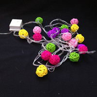 ball yard - 4M LED Rattan Ball LED modeling String light colorful Sepak takraw v v w for outdoor indoor yard tree decoration