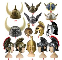 antique warrior - New modeled antique plastic warrior helmet General Viking helmet Spartak Rome party Halloween cavalier helmet