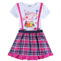 Wholesale Girl Party Wedding Dress Baby Girls Children Clothing Cotton Evening Casual Dress for Baby Girls H6036D
