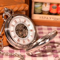 antique vintage prints - 2016 New Arrival Unisex Antique Case Pocket Watch Women Vine Brass Mechanical Hand Winding Pocket Watch Horse Printed Relogio