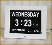 big desktop clock - Big digital clock desktop white black digital day clock for dementia