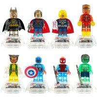 Wholesale Crystal Super Hero Minifigures Frozen Marvel Avengers Batman Building Blocks Sets Model Toys For Children