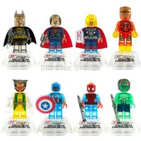 Wholesale Crystal Super Hero Minifigures Marvel Avengers Batman Building Blocks Sets Model Toys For Children