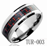 tungsten carbide ring - 8mm Fashion Jewelry Ring Tungsten Carbide Ring Blue Carbon Fiber inlay for men and women TUR