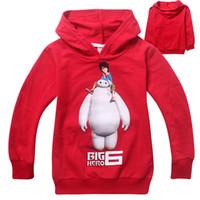 children cotton hoodies - 2015 Spring New Arrivals colours Cartoon Big hero Children s Cotton long sleeve Hoodies Kids coat Sweatshirts C001