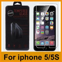 Wholesale 2 D edge mm Tempered Glass Film Guard Screen Protector For iPhone S C