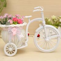 bamboo bike basket - Different Price Rattan Tricycle Bike Flower Basket Vase Storage Garden Wedding Party Decoration Office Bedroom Candy Gift