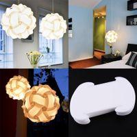 Wholesale 30pcs Elements IQ Puzzle DIY Jigsaw Home Bar Decor Light Lamp Shade Lampshade Size S Decoration White