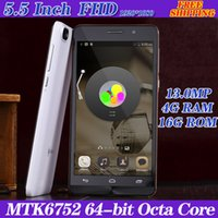 Wholesale Unlocked Cell Phones G WCDMA MTK6752 Octa Core MT6732 Quad Inch MP phone Camera Android Mobile Telephone Mobile phone