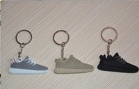 Wholesale 2016 hot sell Boost Keychain oxford tan color new Sneaker Key Chain Kids Key Rings Key Holder Llaveros Chaveiro Porte Clef