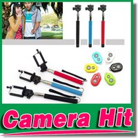 Wholesale 10M Wireless Bluetooth Selfie stick Remote Camera Control Camera Cellphones Extendable Handheld Monopod cellphone holders for all phones